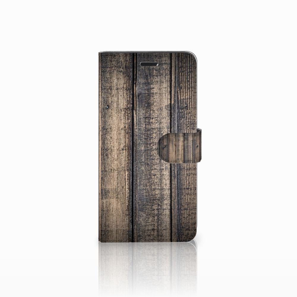 Wiko Pulp Fab 4G Boekhoesje Design Steigerhout