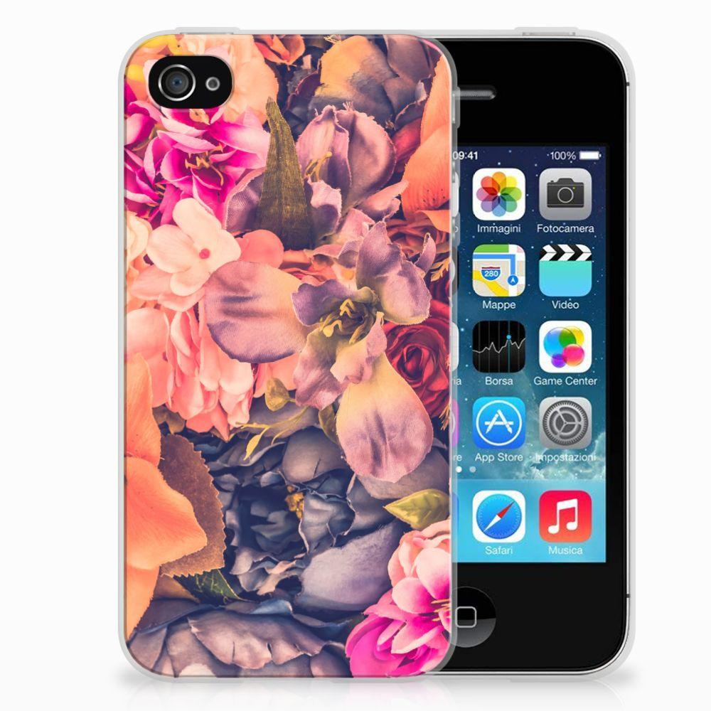 Apple iPhone 4 | 4s TPU Hoesje Design Bosje Bloemen