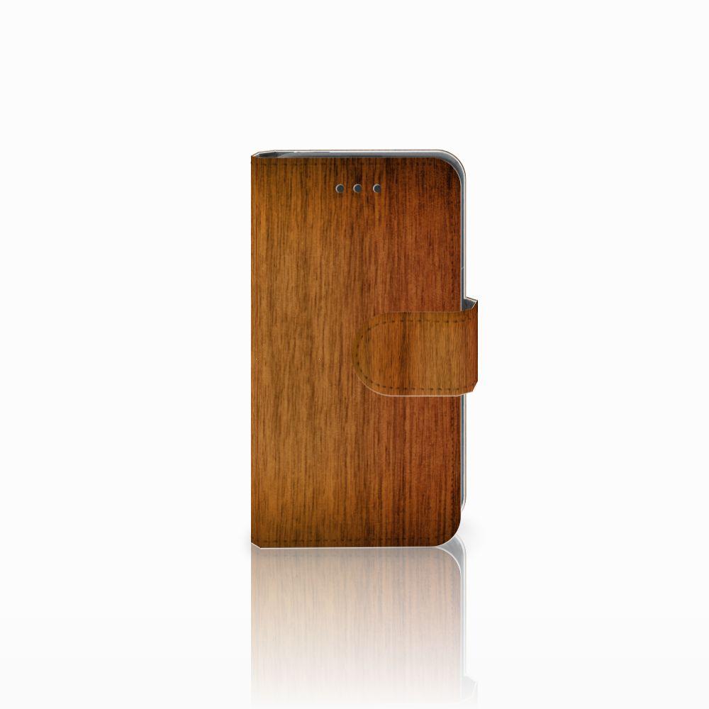 Nokia Lumia 530 Uniek Boekhoesje Donker Hout