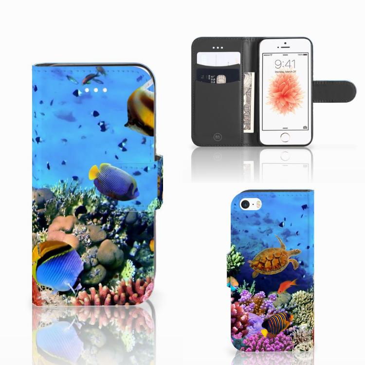 Apple iPhone 5   5s   SE Telefoonhoesje met Pasjes Vissen