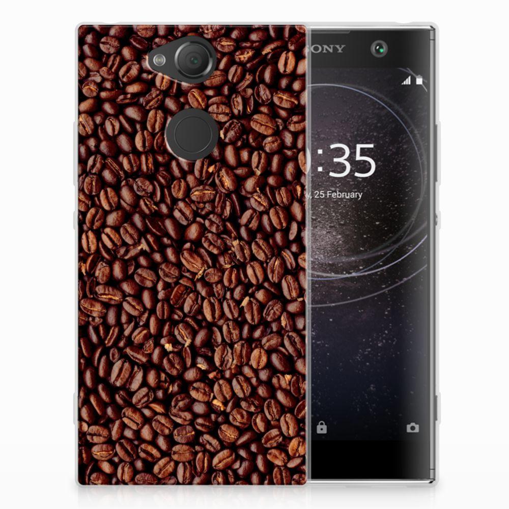 Sony Xperia XA2 Siliconen Case Koffiebonen