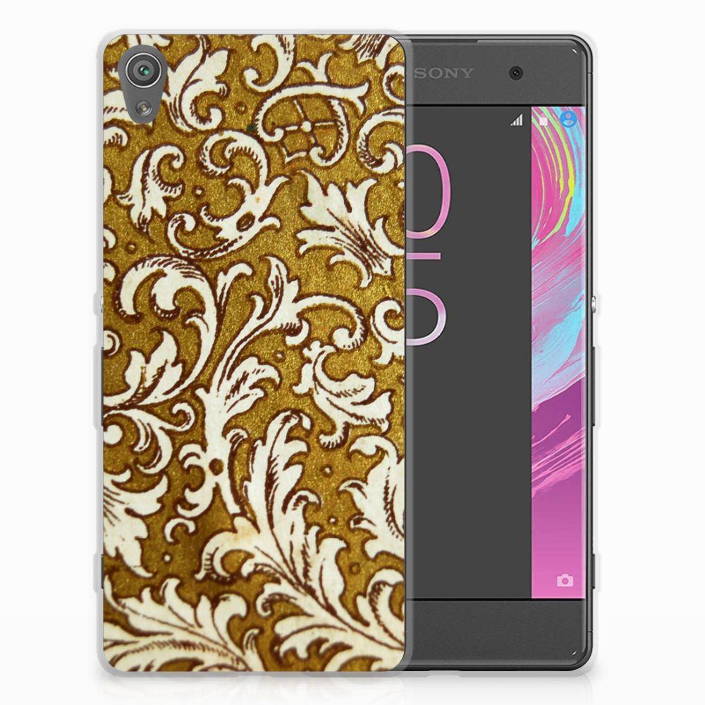 Siliconen Hoesje Sony Xperia XA | XA Dual Barok Goud