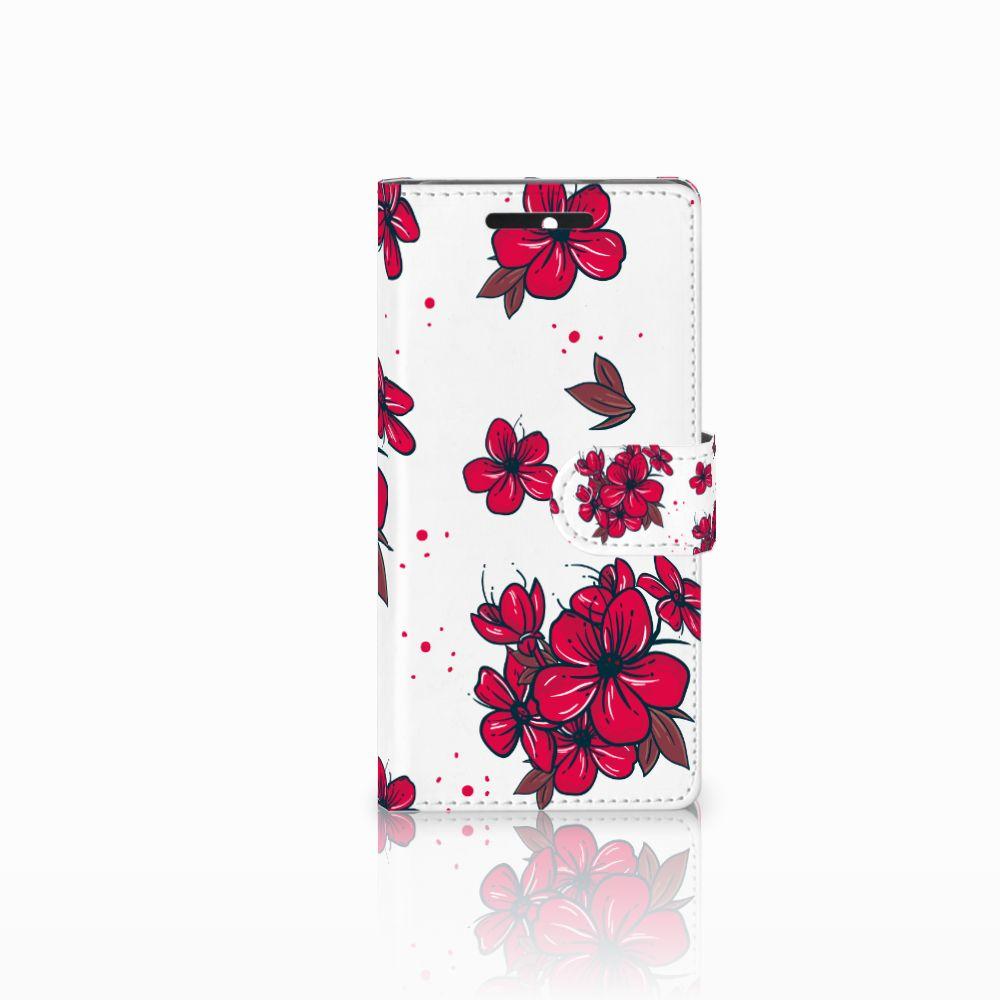 HTC Desire 628 Boekhoesje Design Blossom Red