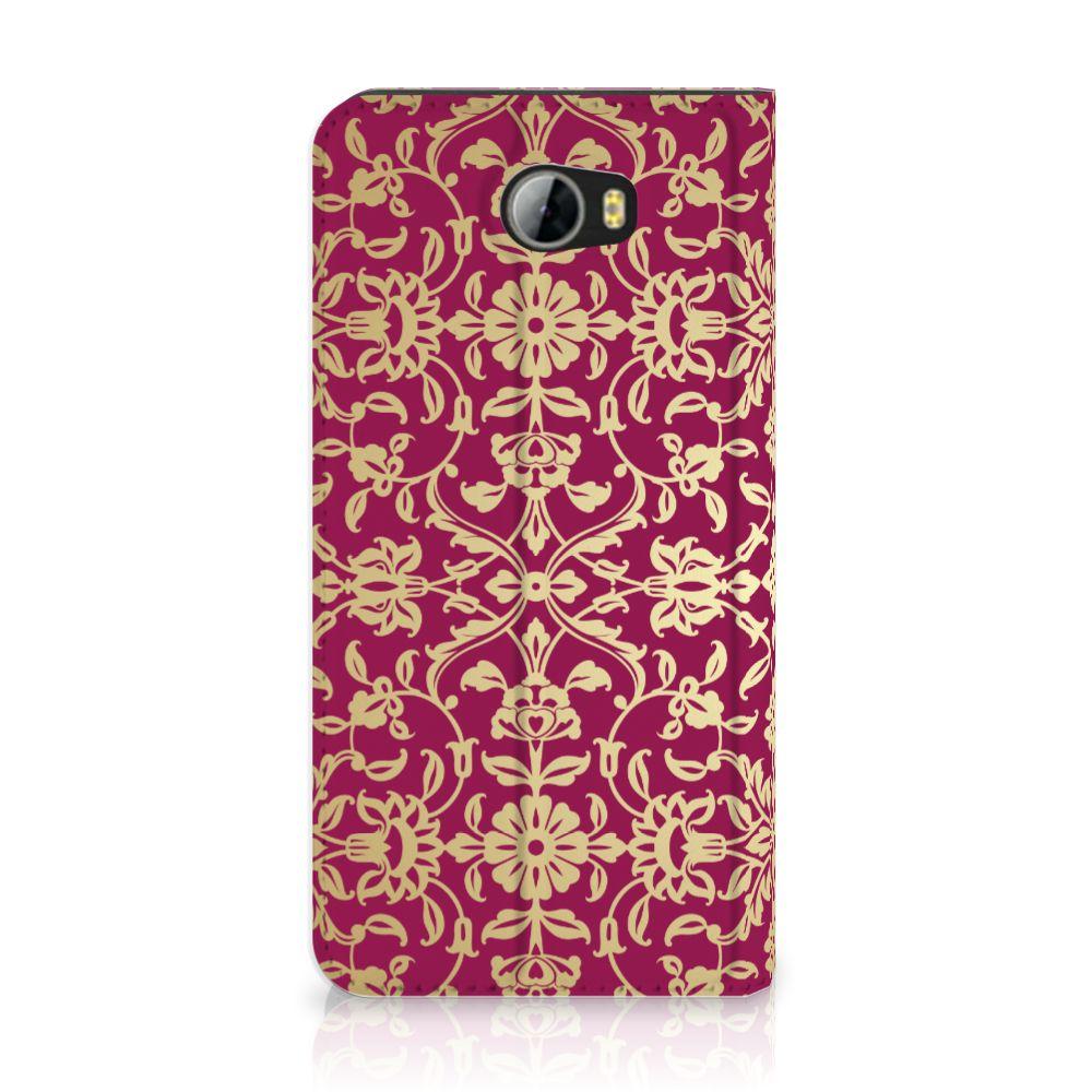 Huawei Y5 2 | Y6 Compact Standcase Hoesje Design Barok Pink