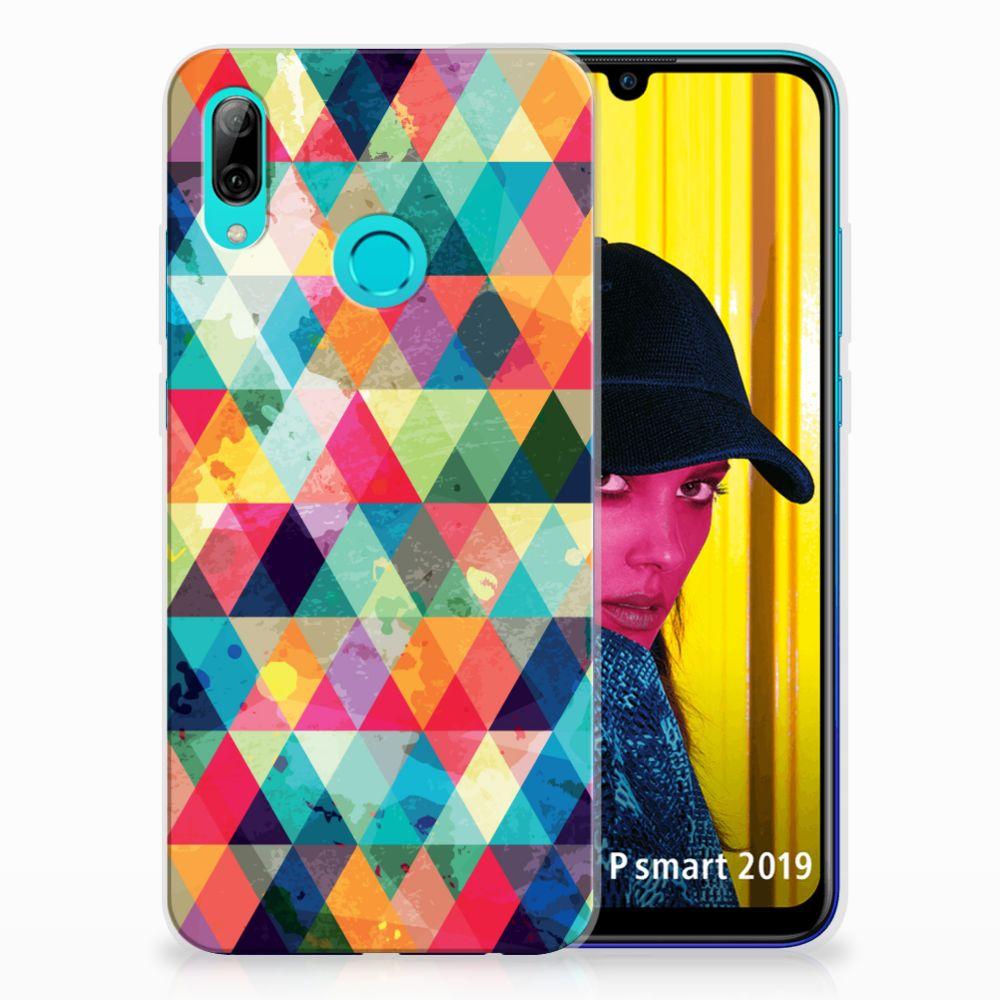 Huawei P Smart 2019 TPU bumper Geruit