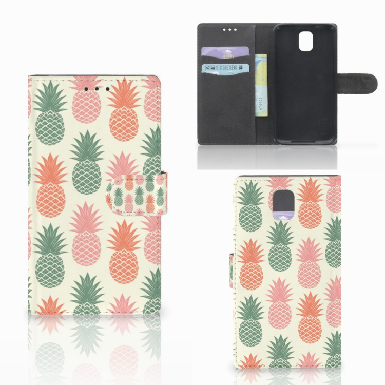 Samsung Galaxy Note 3 Book Cover Ananas