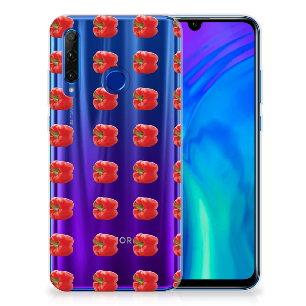 Honor 20 Lite Siliconen Case Paprika Red