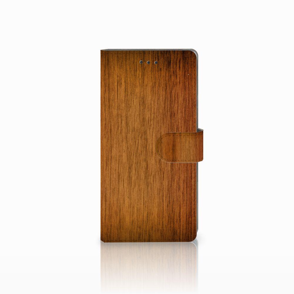 Samsung Galaxy Note 8 Uniek Boekhoesje Donker Hout