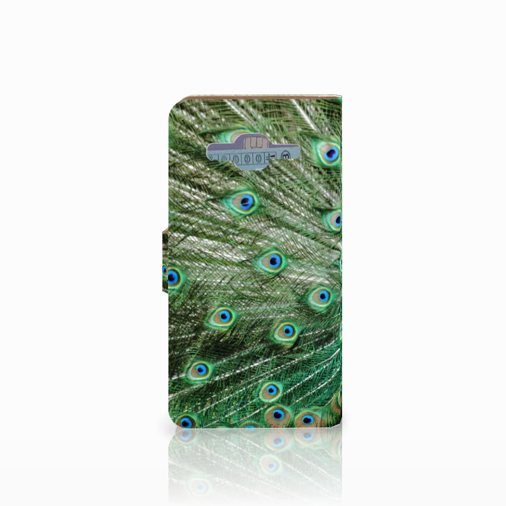 Samsung Galaxy J2 2016 Telefoonhoesje met Pasjes Pauw