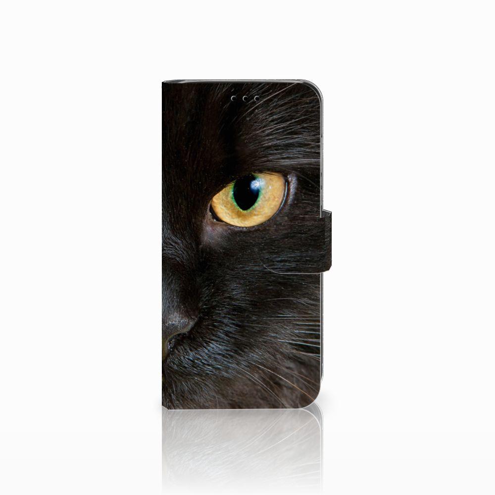 Huawei P20 Lite Uniek Boekhoesje Zwarte Kat
