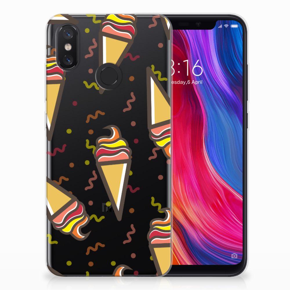 Xiaomi Mi 8 Siliconen Case Icecream