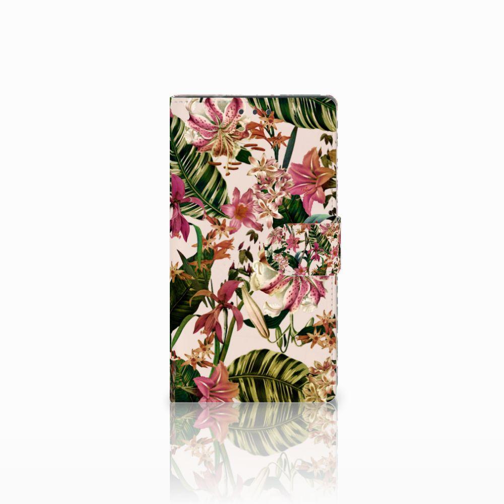 Samsung Galaxy Note 4 Uniek Boekhoesje Flowers