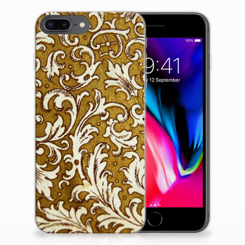 Siliconen Hoesje Apple iPhone 7 Plus | 8 Plus Barok Goud