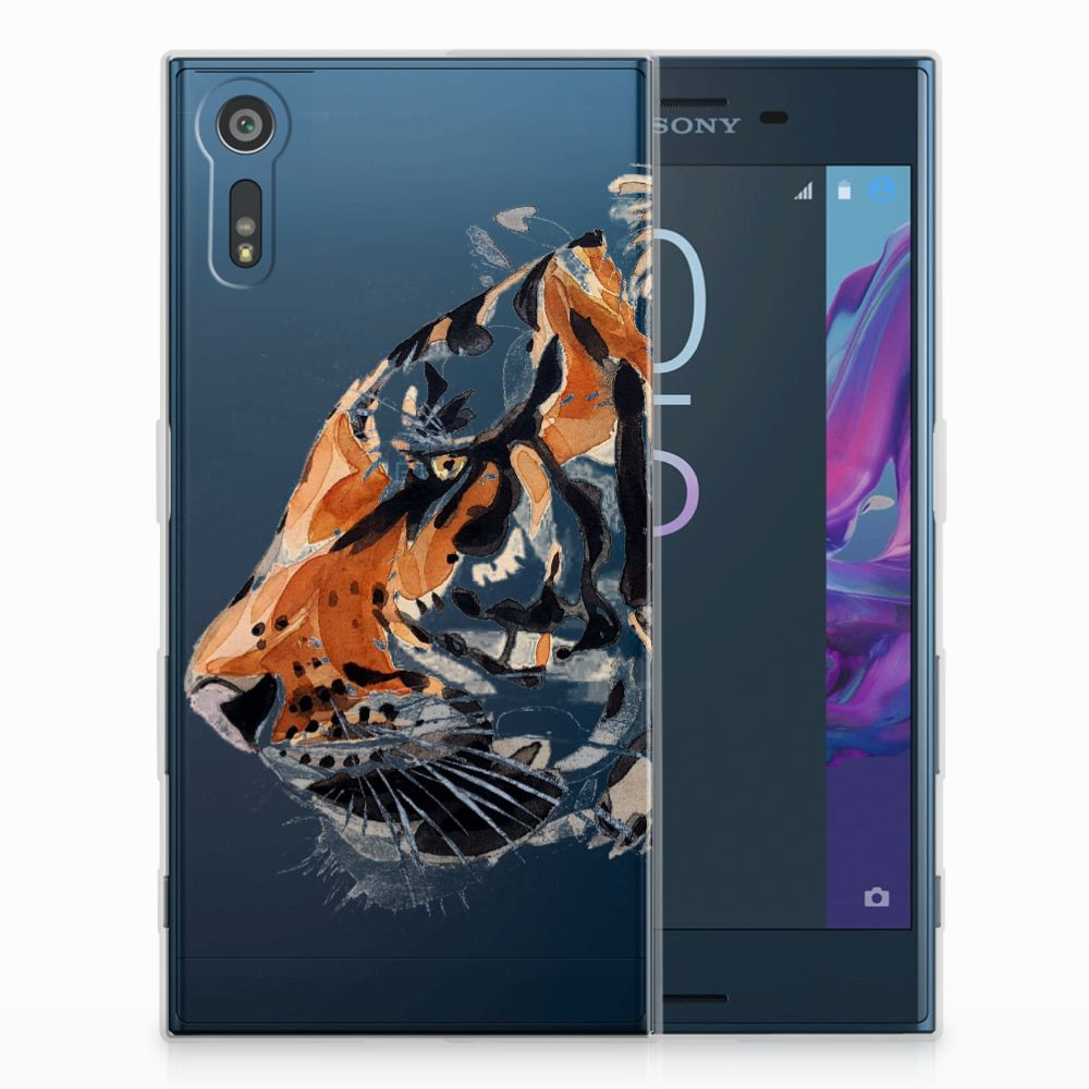 Sony Xperia XZs | XZ Uniek TPU Hoesje Watercolor Tiger