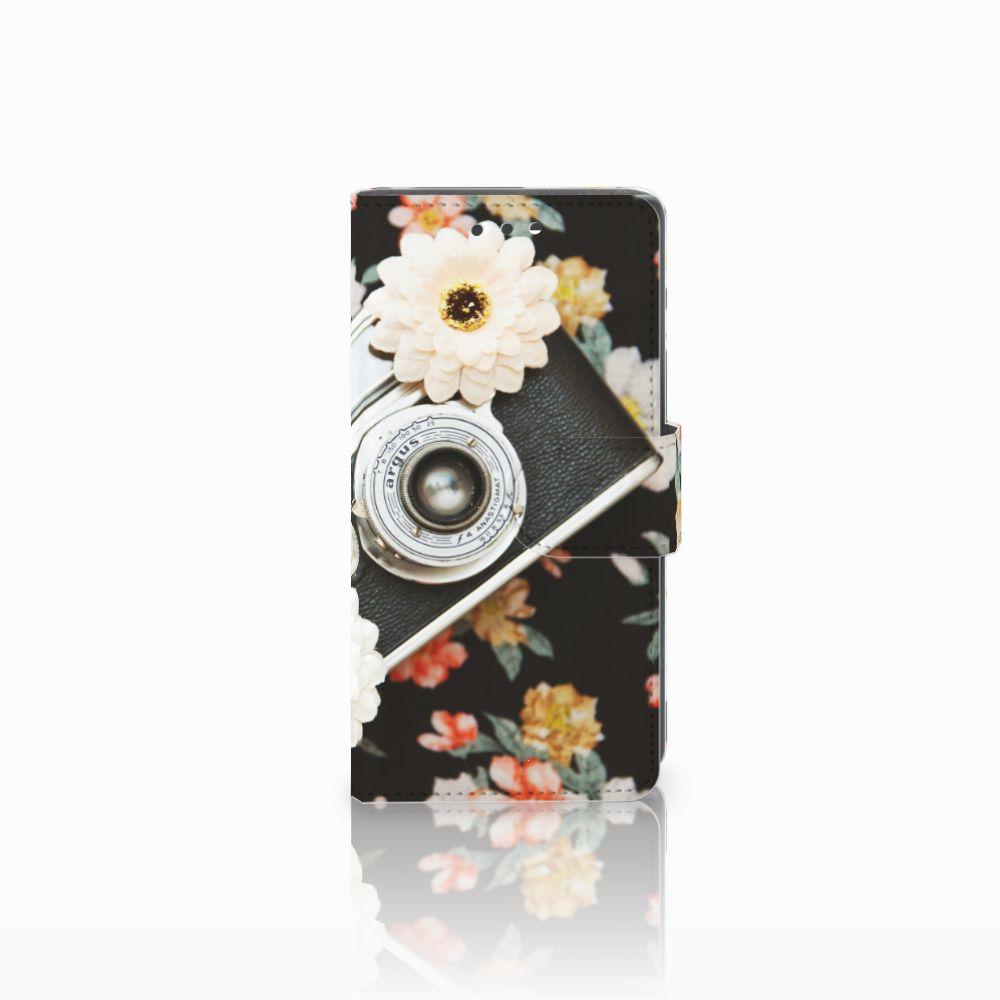 Sony Xperia X Compact Uniek Boekhoesje Vintage Camera