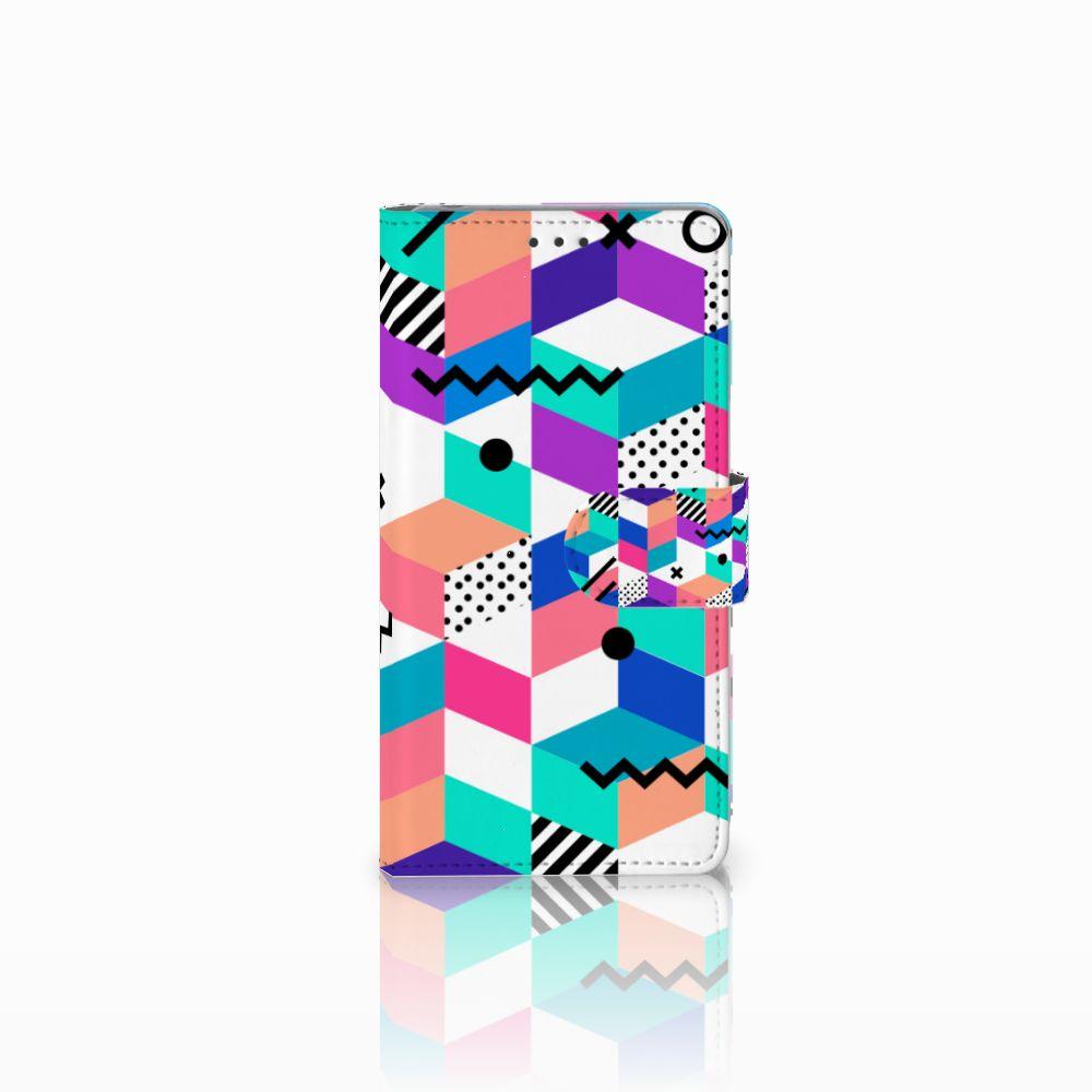 Sony Xperia Z Bookcase Blokken Kleurrijk