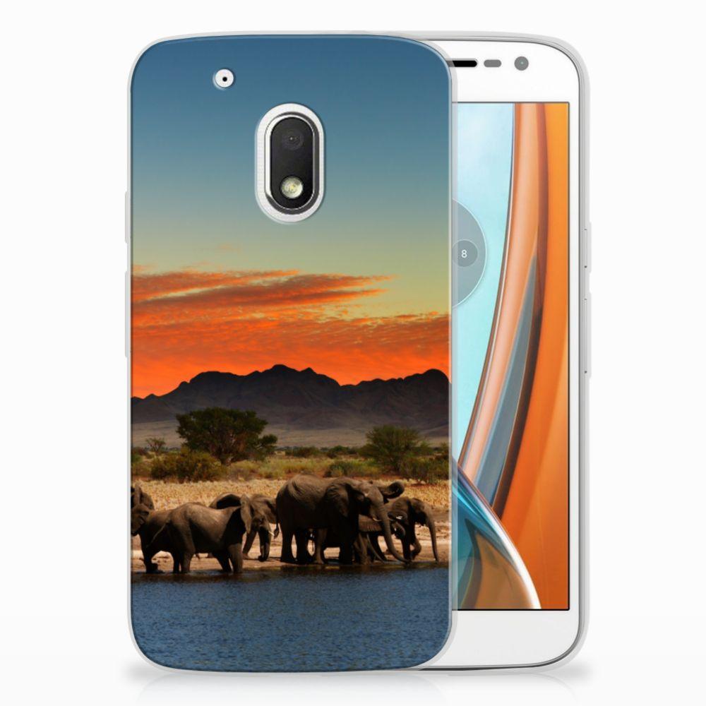 Motorola Moto G4 Play TPU Hoesje Design Olifanten