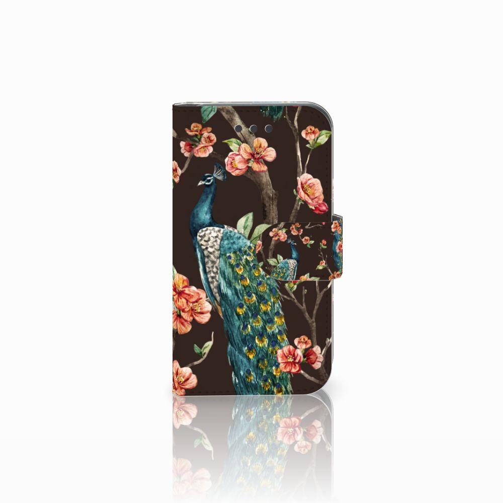 Samsung Galaxy Core 2 Boekhoesje Design Pauw met Bloemen