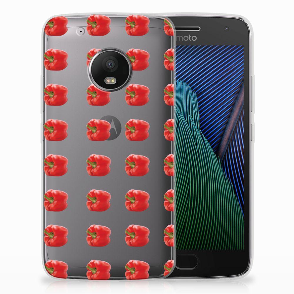 Motorola Moto G5 Plus Siliconen Case Paprika Red