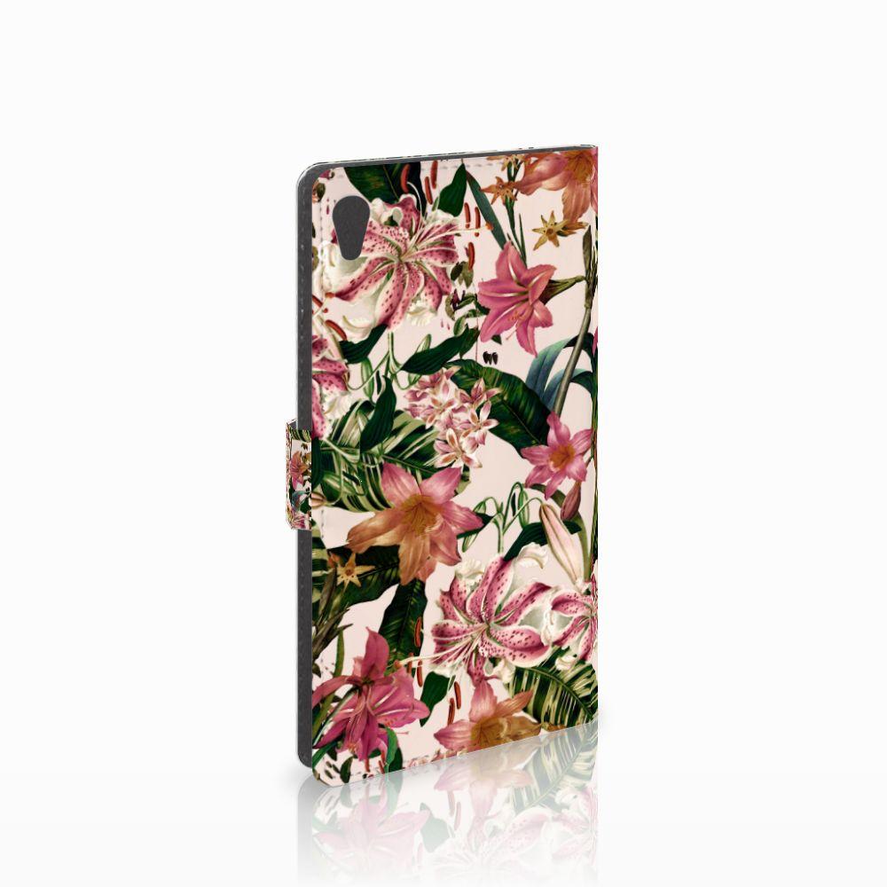 Sony Xperia XA Ultra Uniek Boekhoesje Flowers