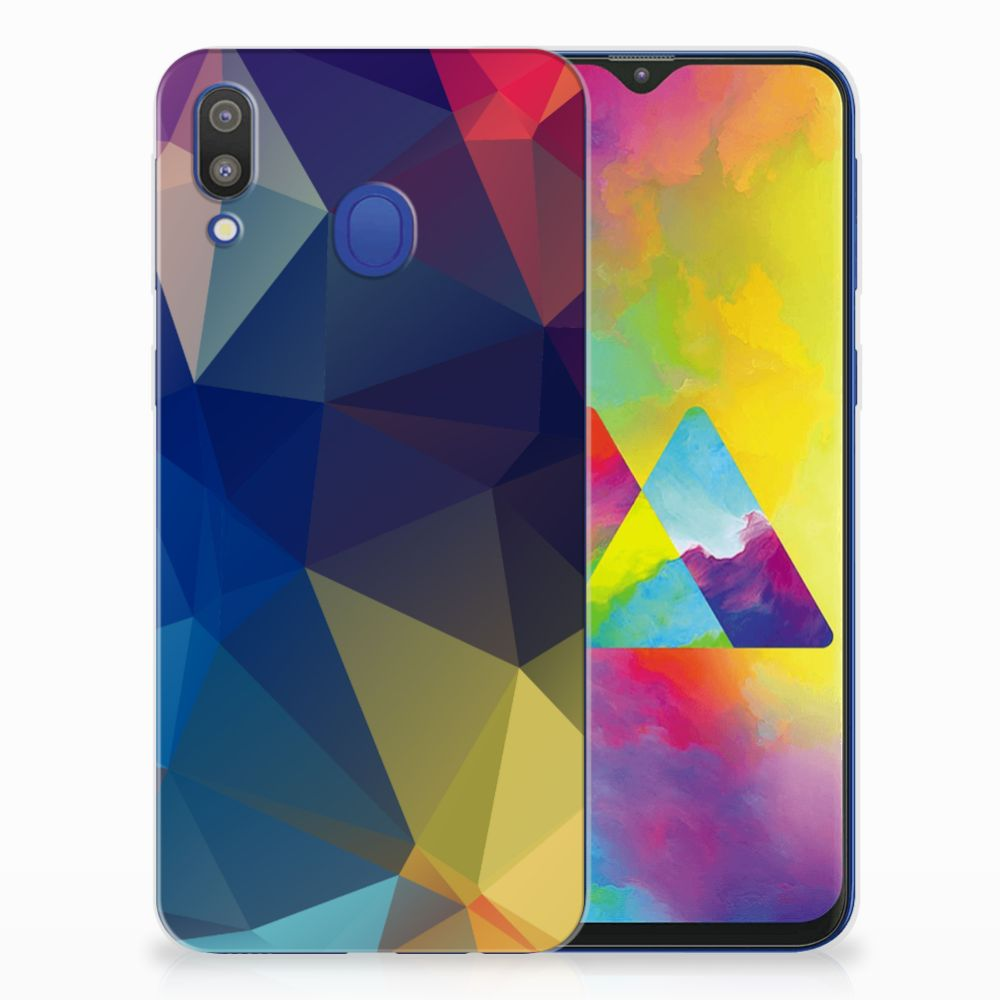 Samsung Galaxy M20 (Power) TPU Hoesje Polygon Dark