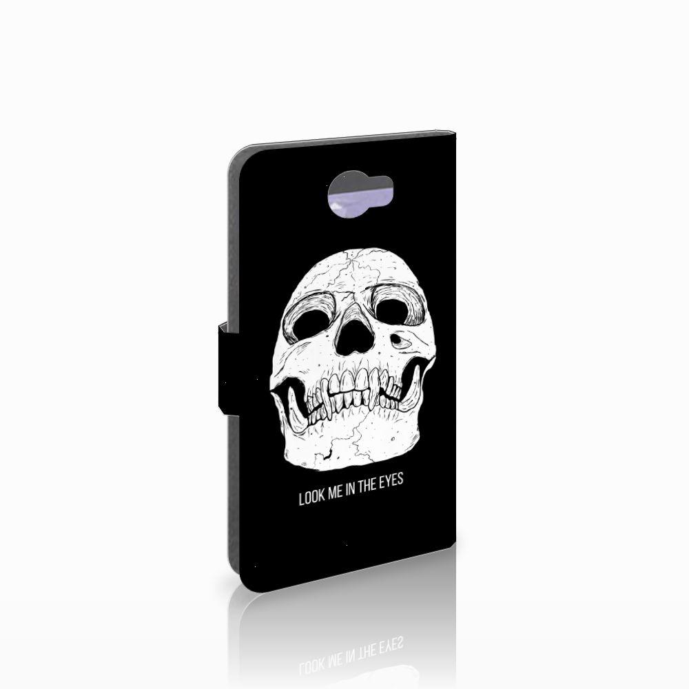 Telefoonhoesje met Naam Huawei Y5 2 | Y6 II Compact Skull Eyes