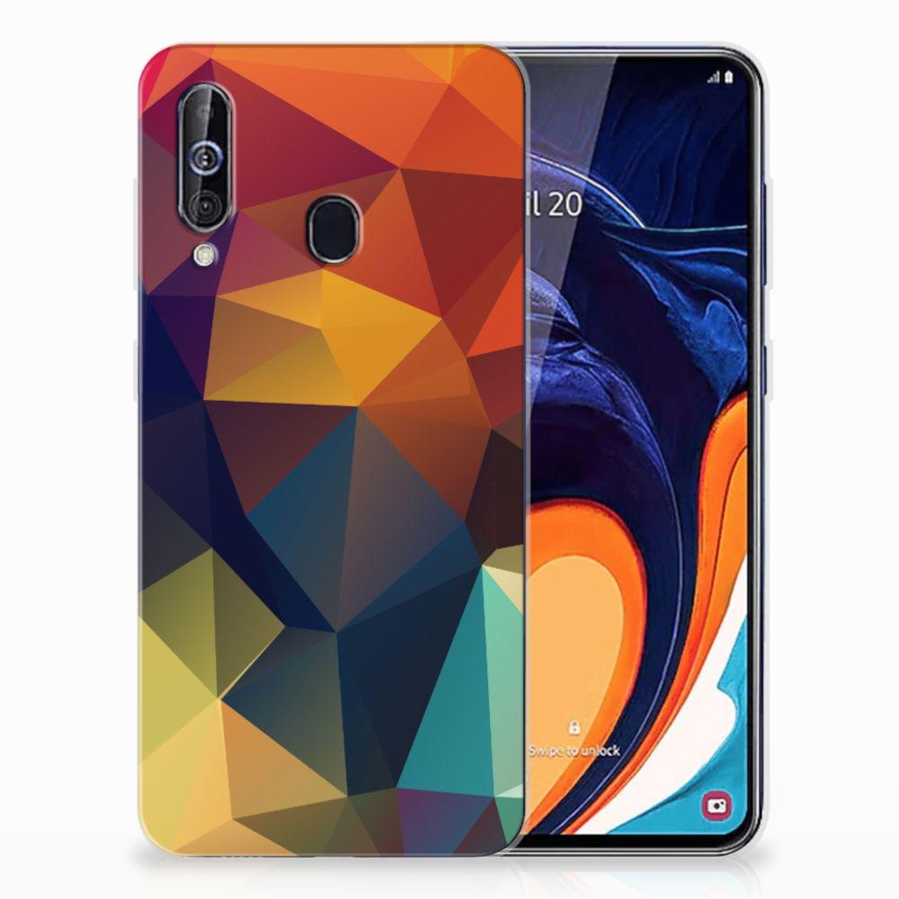 Samsung Galaxy A60 TPU Hoesje Polygon Color