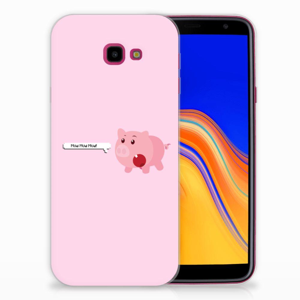 Samsung Galaxy J4 Plus (2018) Telefoonhoesje met Naam Pig Mud