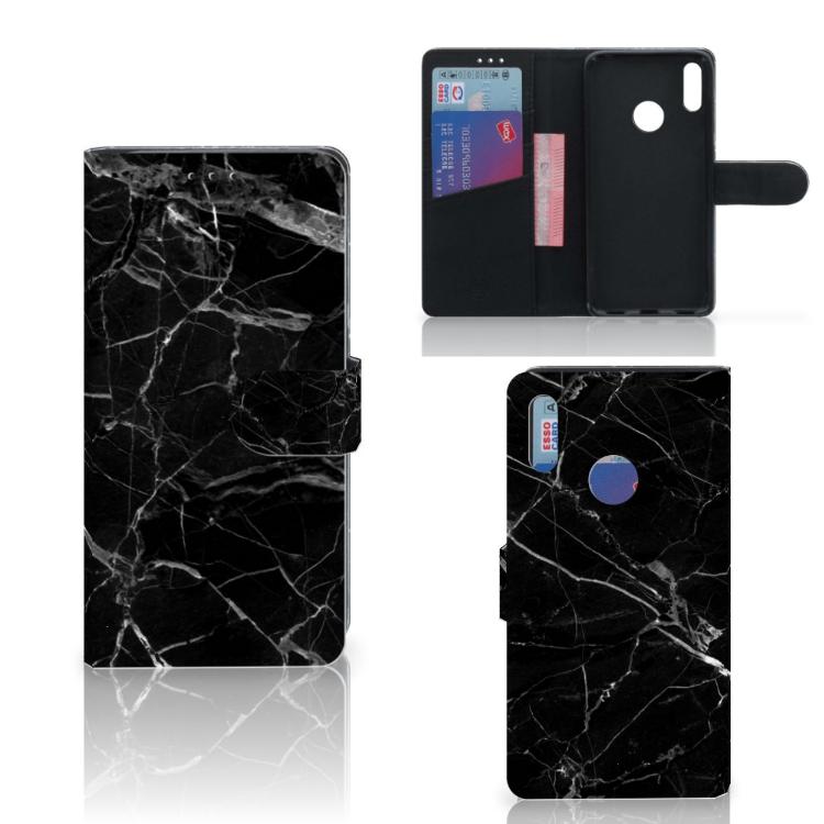 Huawei Y7 Pro | Y7 Prime (2019) Bookcase Marmer Zwart