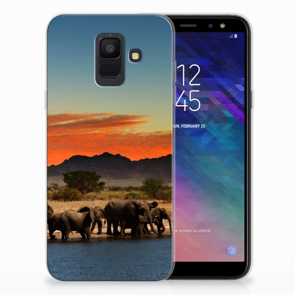 Samsung Galaxy A6 (2018) TPU Hoesje Design Olifanten