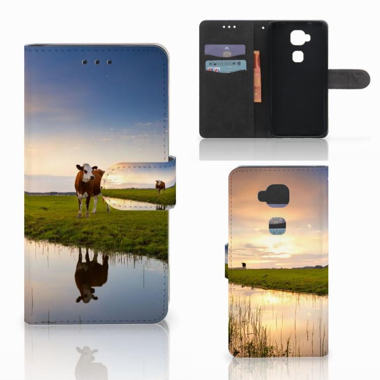 Huawei G8 Telefoonhoesje met Pasjes Koe