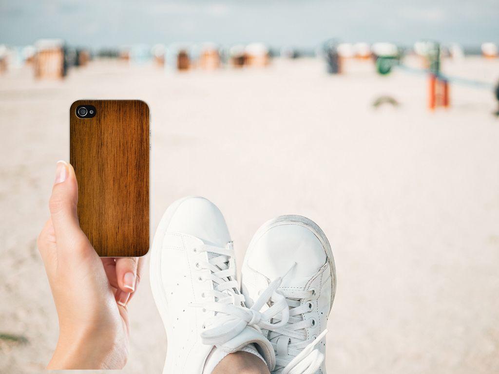 Apple iPhone 4 | 4s Bumper Hoesje Donker Hout