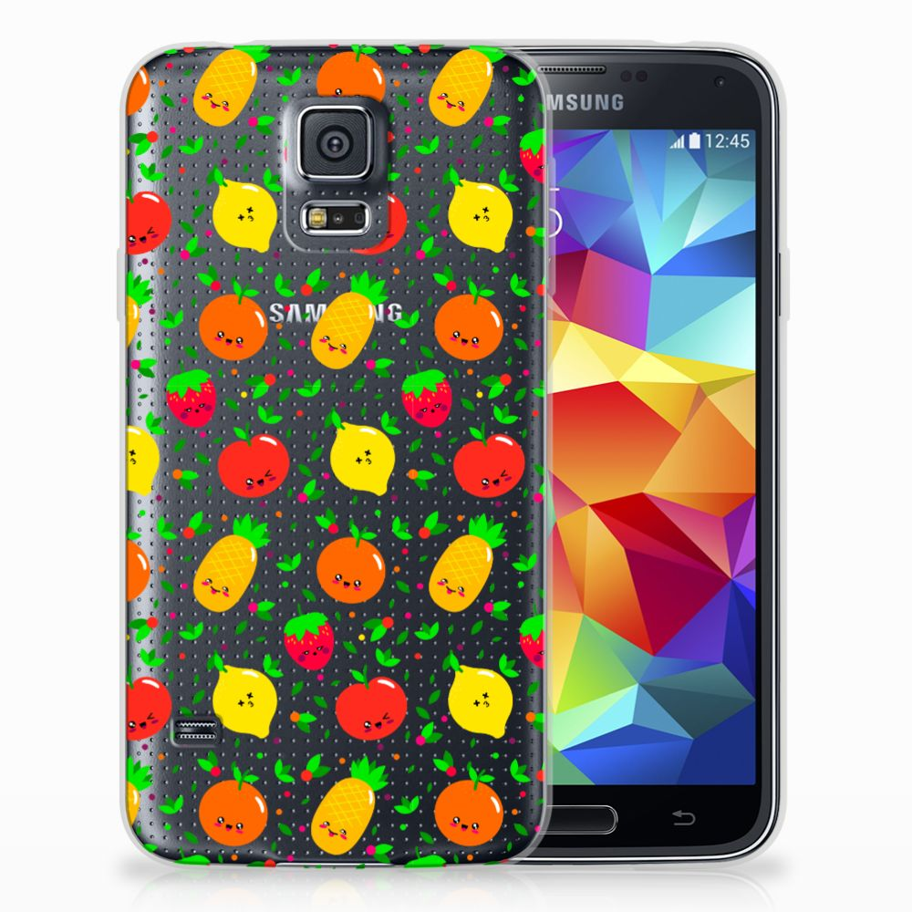 Samsung Galaxy S5 Siliconen Case Fruits