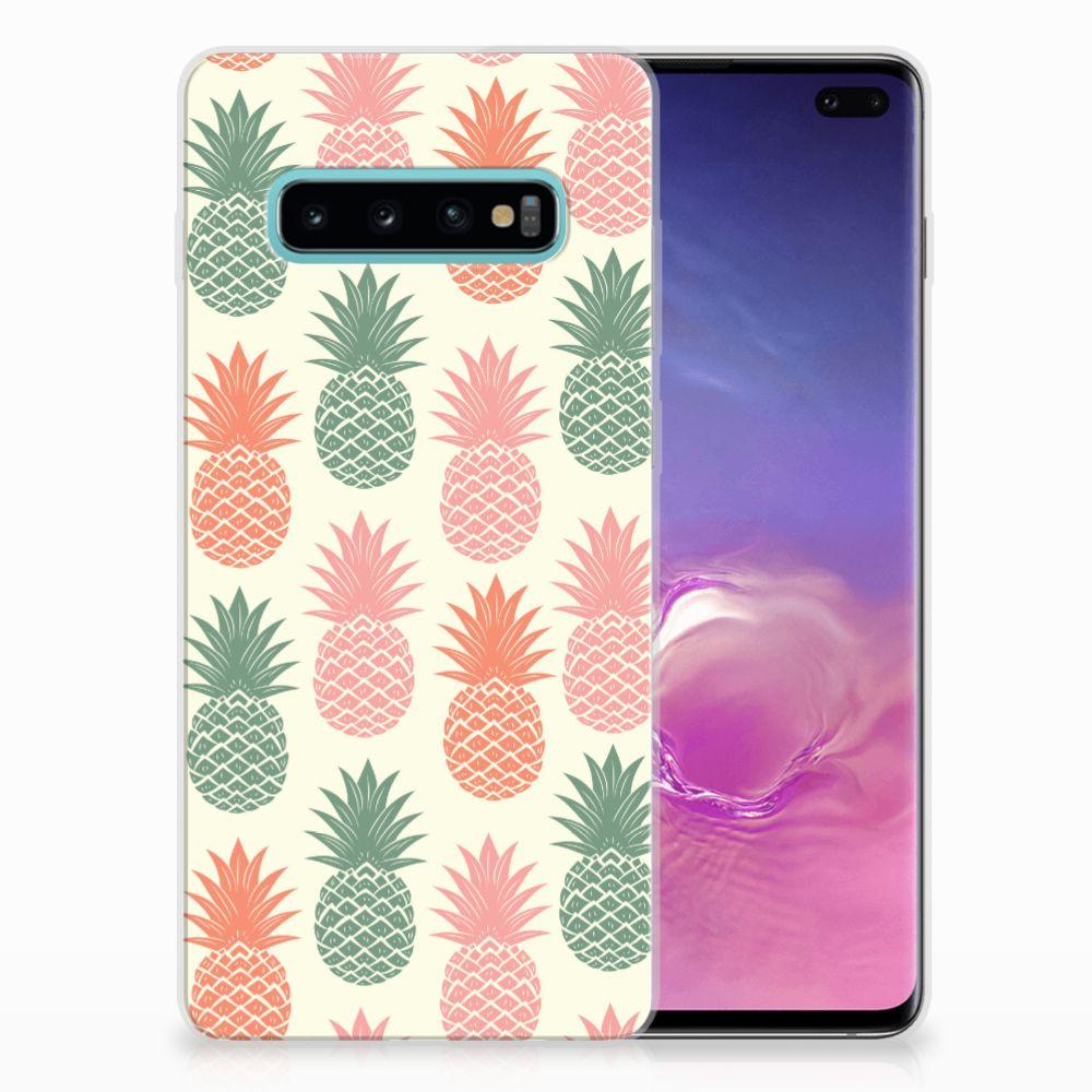 Samsung Galaxy S10 Plus TPU Hoesje Design Ananas