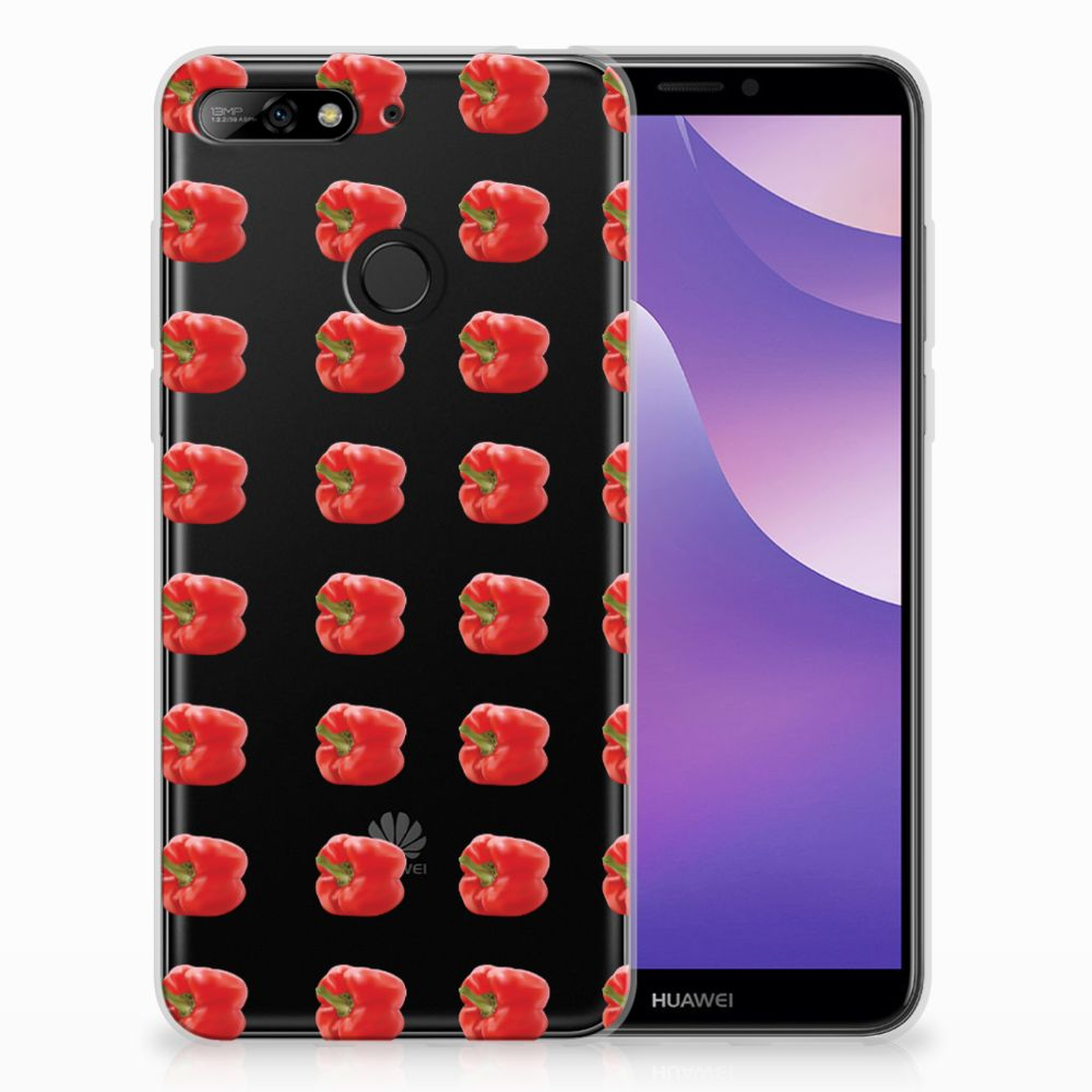 Huawei Y6 (2018) Siliconen Case Paprika Red