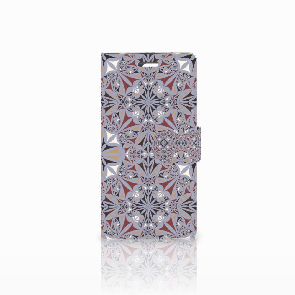 LG K10 2015 Boekhoesje Design Flower Tiles