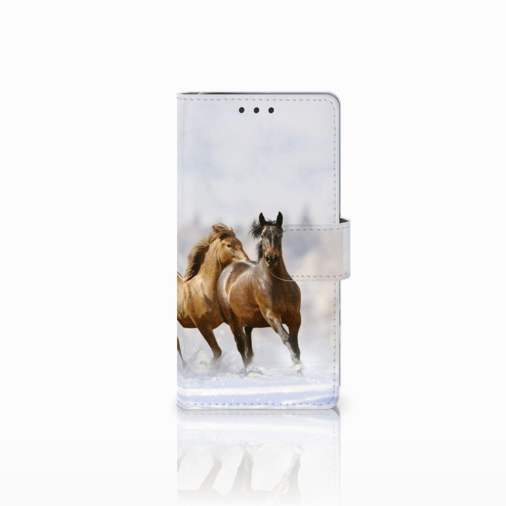 Sony Xperia X Performance Telefoonhoesje met Pasjes Paarden