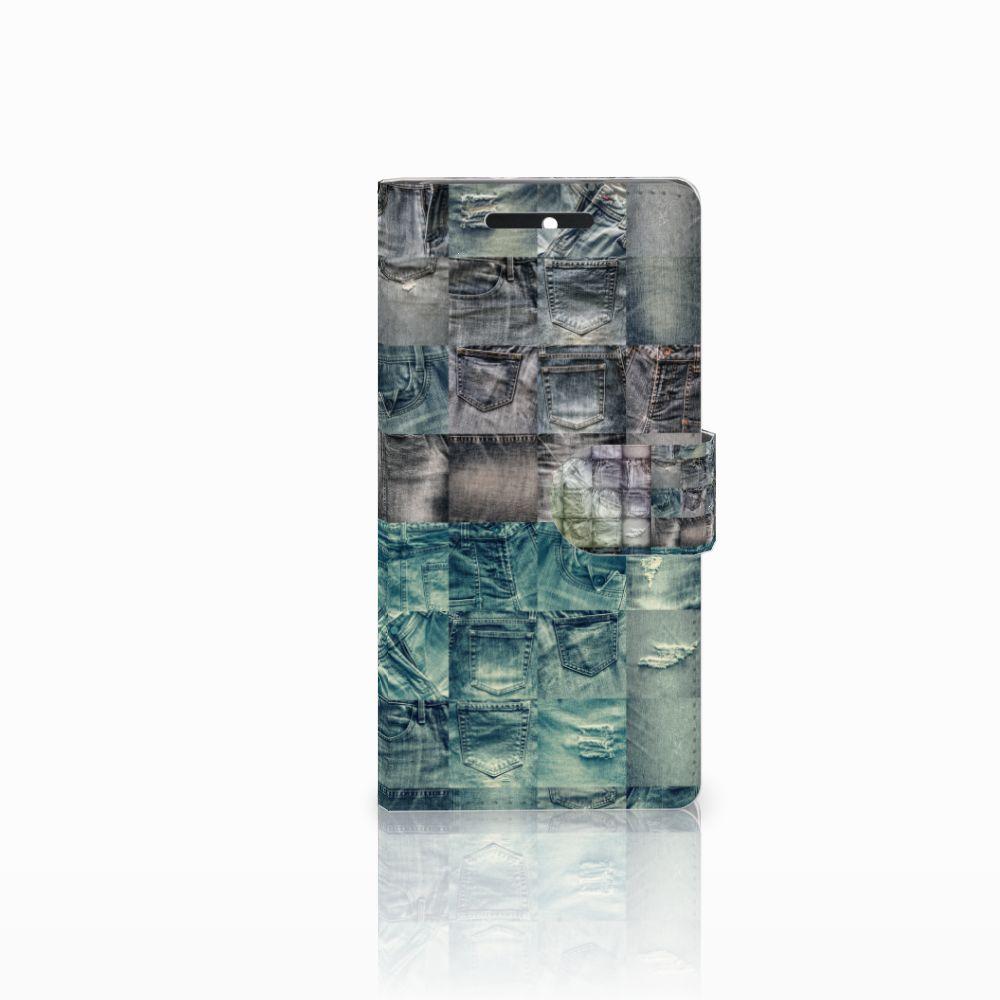 HTC Desire 628 Uniek Boekhoesje Spijkerbroeken