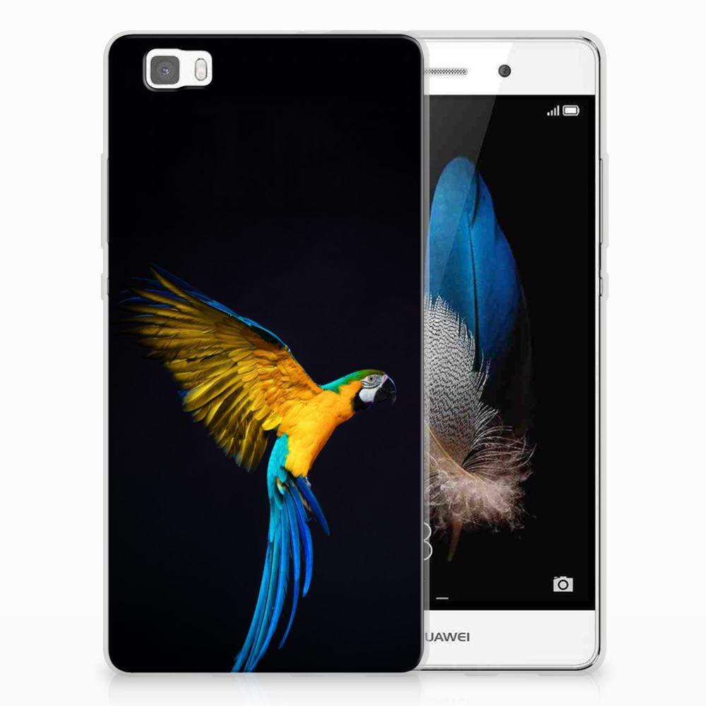 Huawei Ascend P8 Lite TPU Hoesje Papegaai