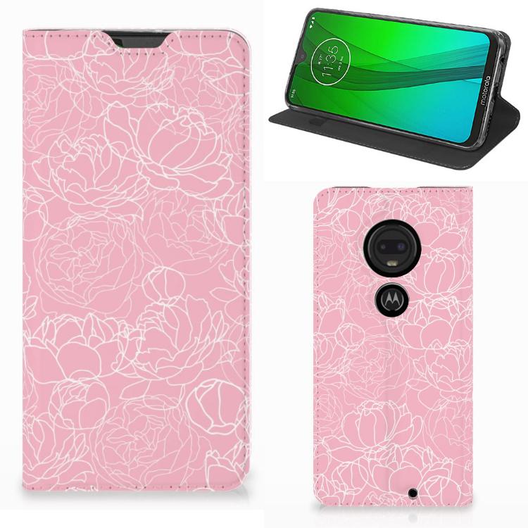 Motorola Moto G7 | G7 Plus Telefoon Hoesje White Flowers