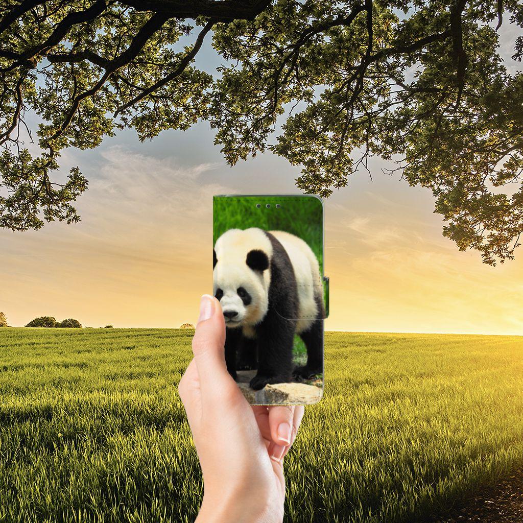 Samsung Galaxy J5 (2015) Telefoonhoesje met Pasjes Panda