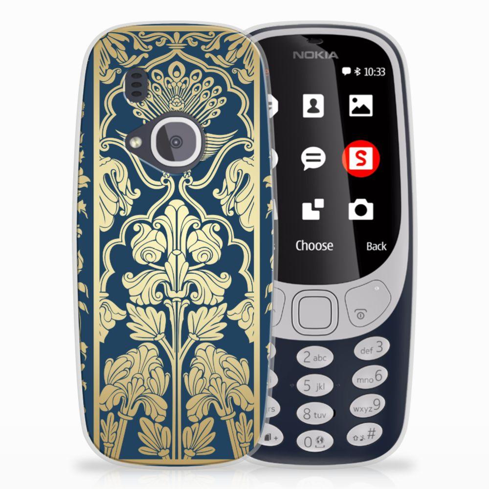 Nokia 3310 (2017) TPU Case Golden Flowers