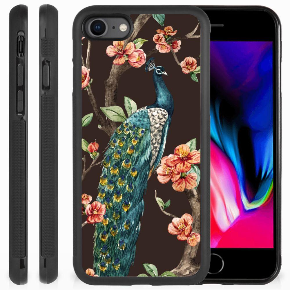 Apple iPhone 7 | 8 Back Cover Pauw met Bloemen
