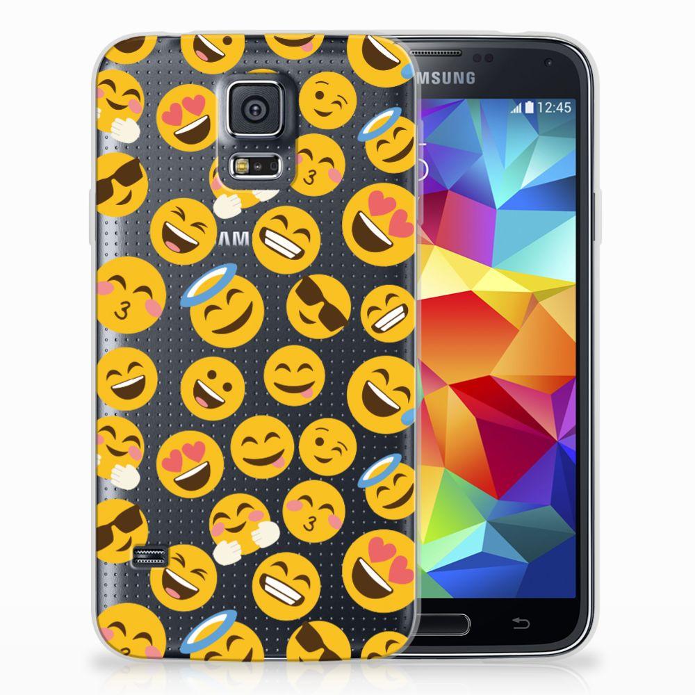Samsung Galaxy S5 TPU Hoesje Design Emoji