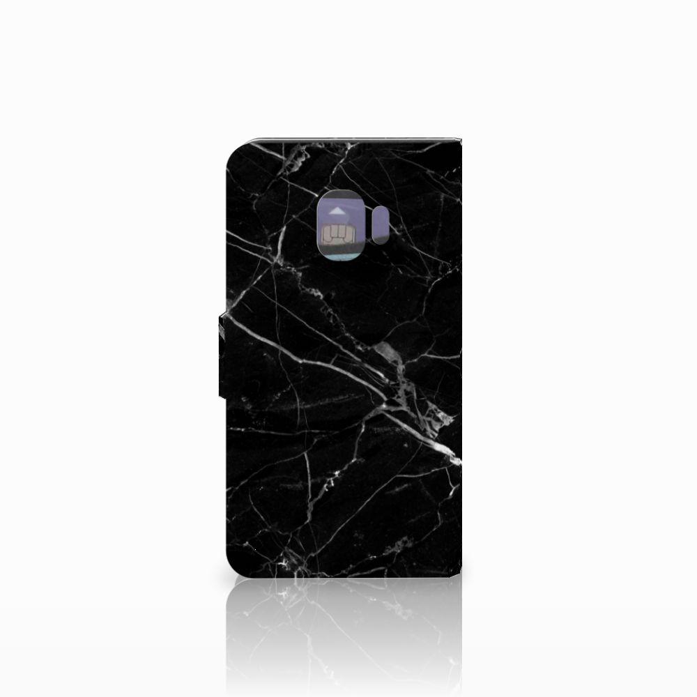 Samsung Galaxy J2 Pro 2018 Bookcase Marmer Zwart