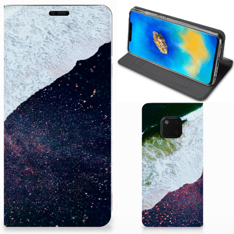 Huawei Mate 20 Pro Stand Case Sea in Space