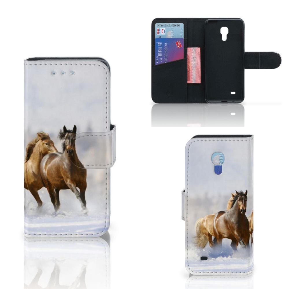 Samsung Galaxy S4 Mini i9190 Telefoonhoesje met Pasjes Paarden