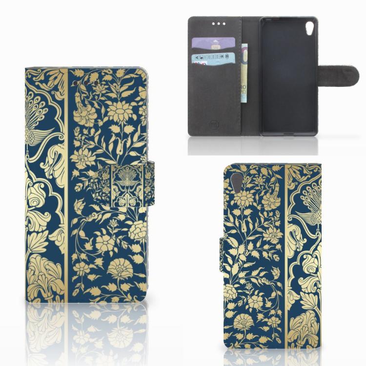 Sony Xperia E5 Hoesje Golden Flowers