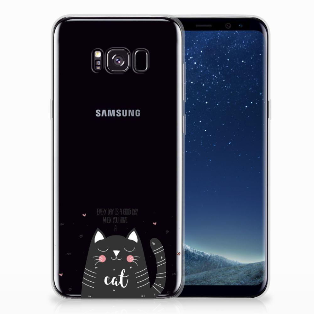Samsung Galaxy S8 Plus Telefoonhoesje met Naam Cat Good Day