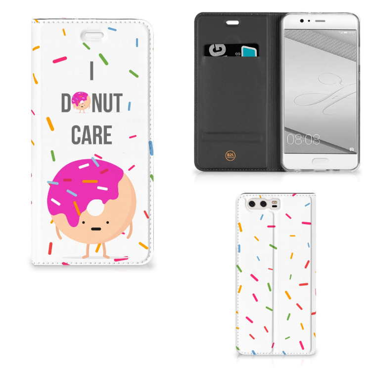 Huawei P10 Plus Flip Style Cover Donut Roze